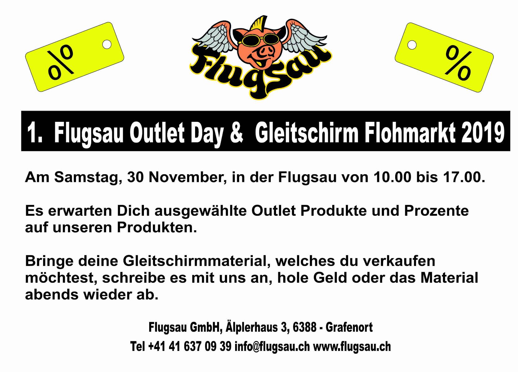 1. Flugsau Outlet Day & Gleitschirm Flohmarkt 2019